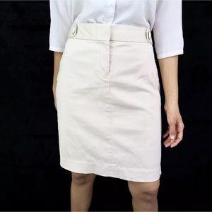 J. CREW Women's Stretch Beige Sateen Pencil Skirt